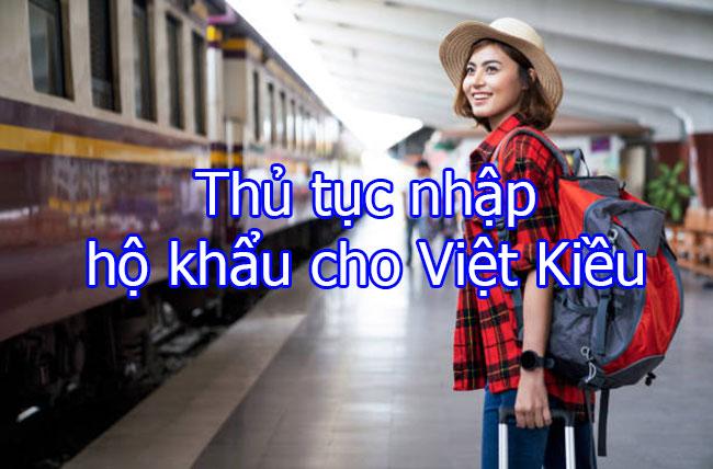 Thủ tục nhập hộ khẩu cho Việt Kiều
