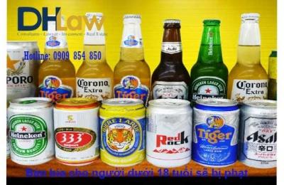 Bán bia cho người dưới 18 tuổi sẽ bị phạt áp dụng từ ngày 15/10