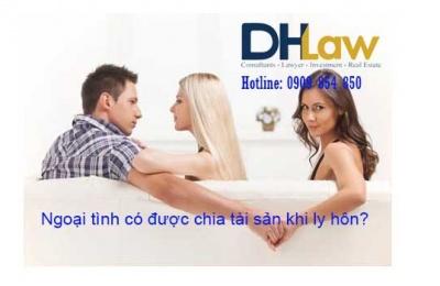 Ngoại tình có được chia tài sản khi ly hôn?
