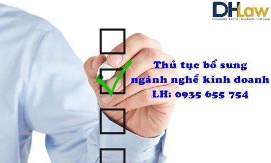 Thủ tục bổ sung ngành nghề kinh doanh cho công ty có vốn đầu tư nước ngoài