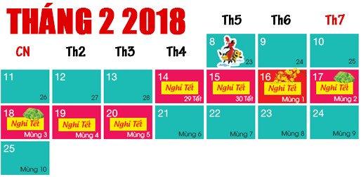 Tết Âm lịch 2018, Cán bộ, công chức được nghỉ 7 ngày