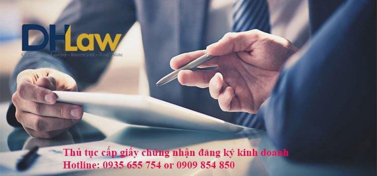Thủ tục cấp giấy chứng nhận đăng ký kinh doanh