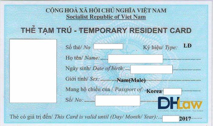 Lệ phí cấp thẻ tạm trú