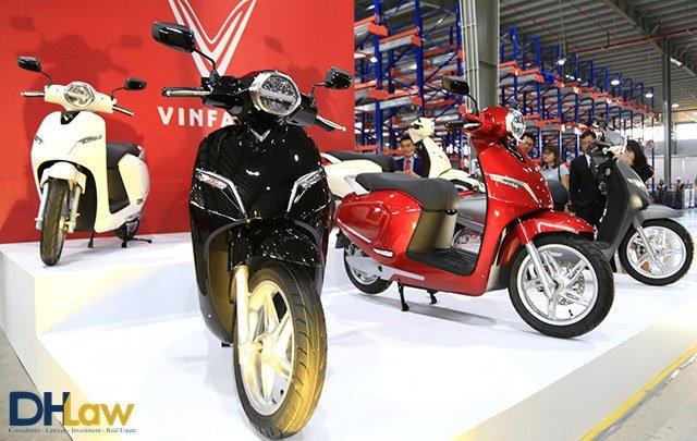 Giá tính lệ phí trước bạ đối với xe máy Vinfast
