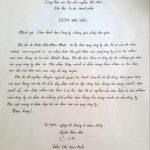 Mẫu đơn xin việc viết tay