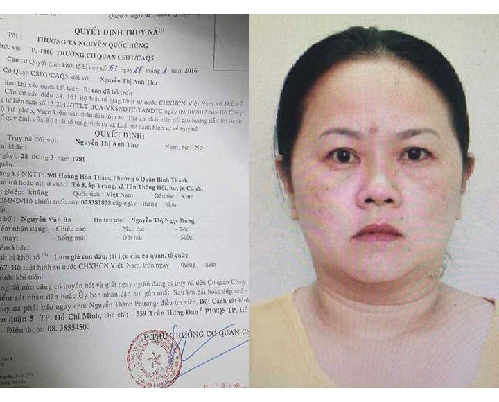 Bị can Nguyễn Thị Anh Thư